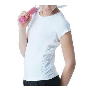 FILA Girls Cap Sleeve Ruched Top Sz Large (12-14)